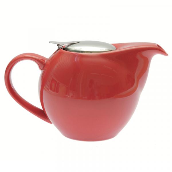 théière céramique rouge litre vrac et local allemans